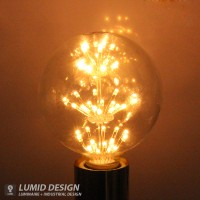 에디슨 LED 눈꽃 전구/G95/2W