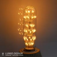 에디슨 LED 눈꽃 전구/T32/2W