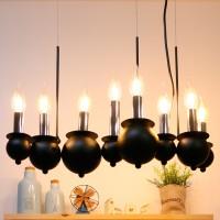 버블 촛대 8등 펜던트 (블랙)
