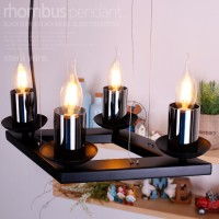 람버스 촛대 4등 펜던트 (블랙)