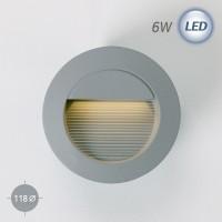 4306 LED 원형 계단매입 6W (회색)(실내/외겸용)