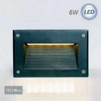 4502 LED 사각 계단매입 6W (흑색)(실내/외겸용)