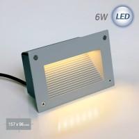 4502 LED 사각 계단매입 6W (회색)(실내/외겸용)