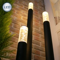 슬림 LED 잔디등 에어버블 (블랙)