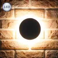 LED 3072 원형 외부벽등 9W (다크그레이)