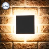 LED 3071 정사각 외부벽등 9W (다크그레이)