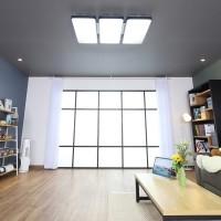 마빈 블랙 3단 LED 150W 거실등