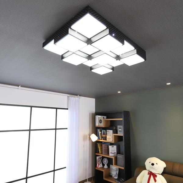 큐브 블랙 LED 100W 거실등