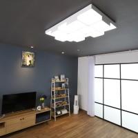 큐브 화이트 LED 125W 거실등