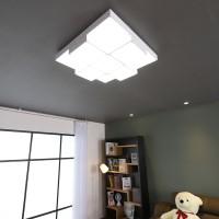 큐브 화이트 LED 75W 거실등