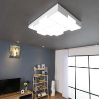 큐브 화이트 LED 100W 거실등