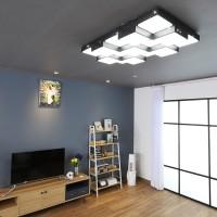큐브 블랙 LED 125W 거실등
