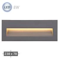 LED 250 외부 계단매입 (그레이)